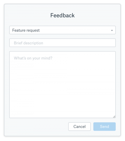 generic feedback forms aren't the best way to collect feedback