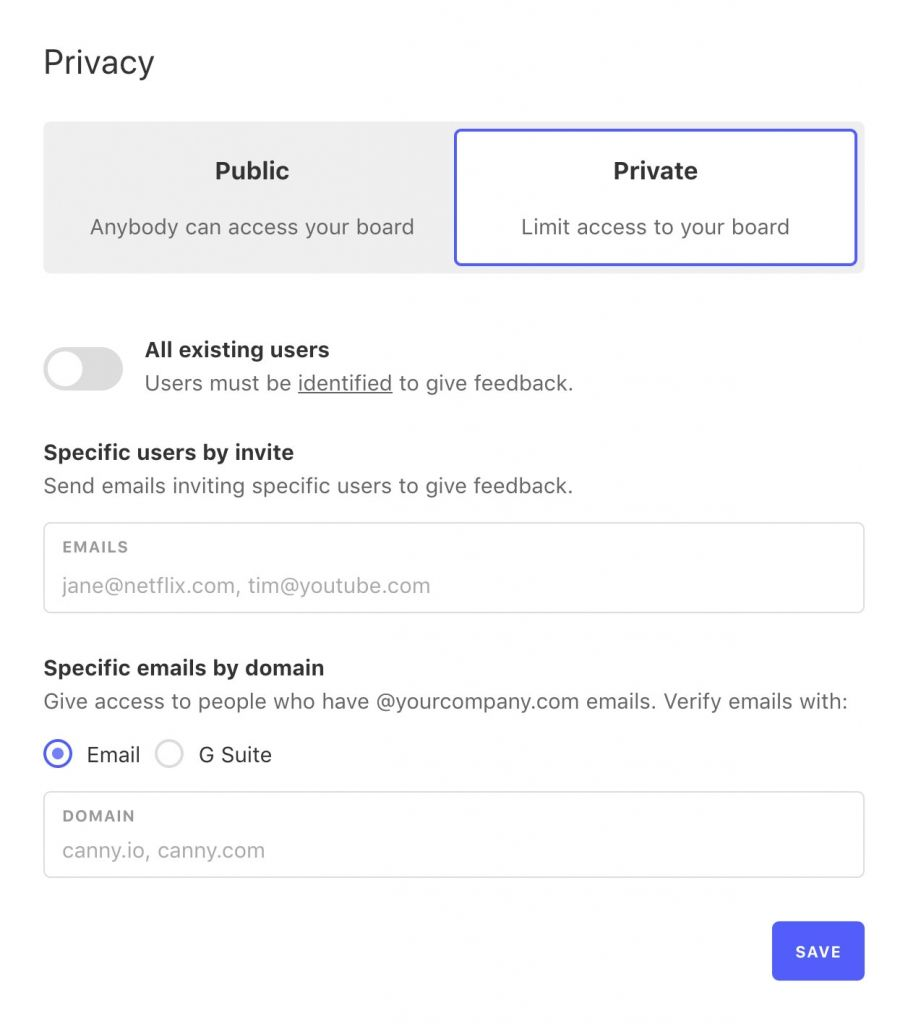 Modern feature voting tools protect your privacy