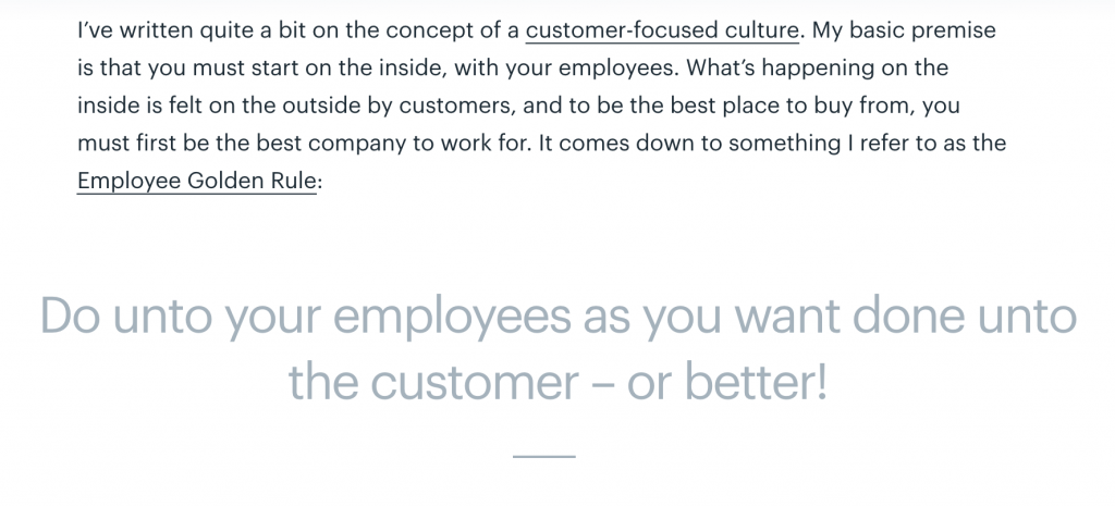 Help Scout's definition of being customer focused