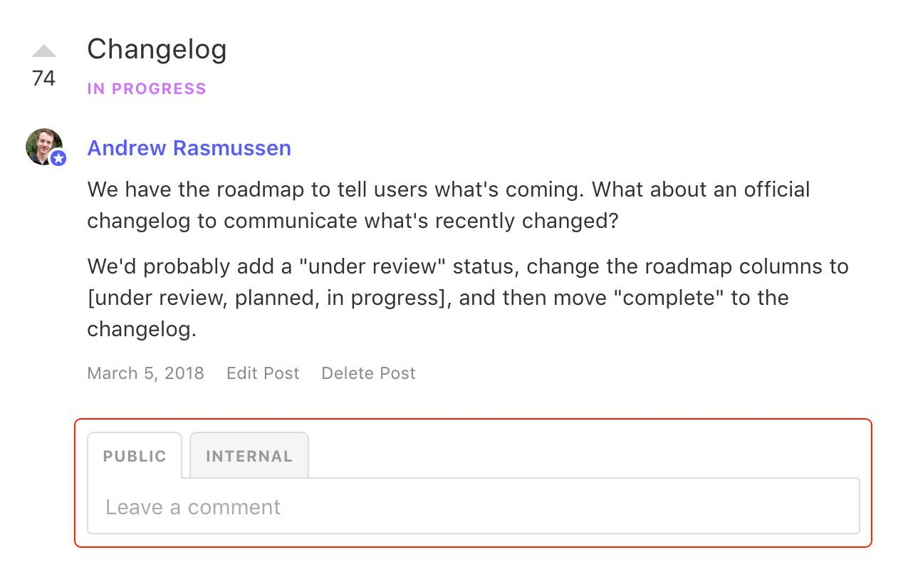Product roadmap best practices: use a product roadmap tool that allows people to leave feedback