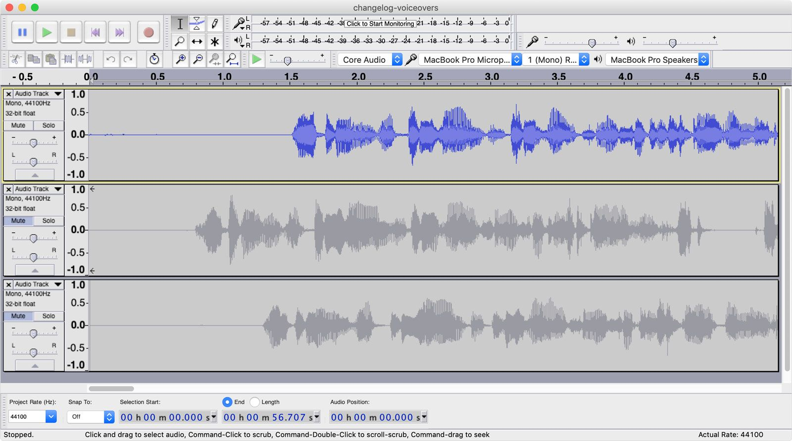 Screenshot of Audacity