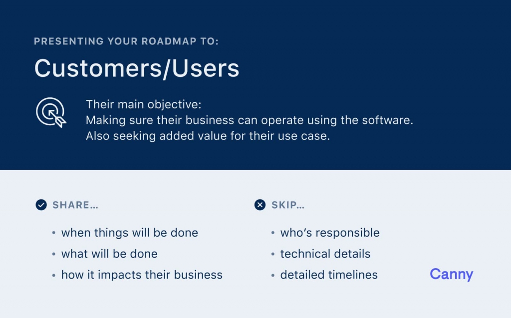 Customers mostly care about when things in your product roadmap will get done