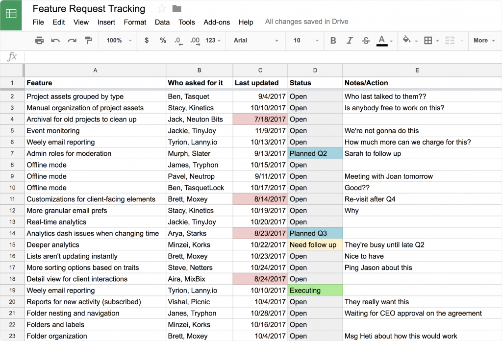 Spreadsheets can't replace a feedback tool forever