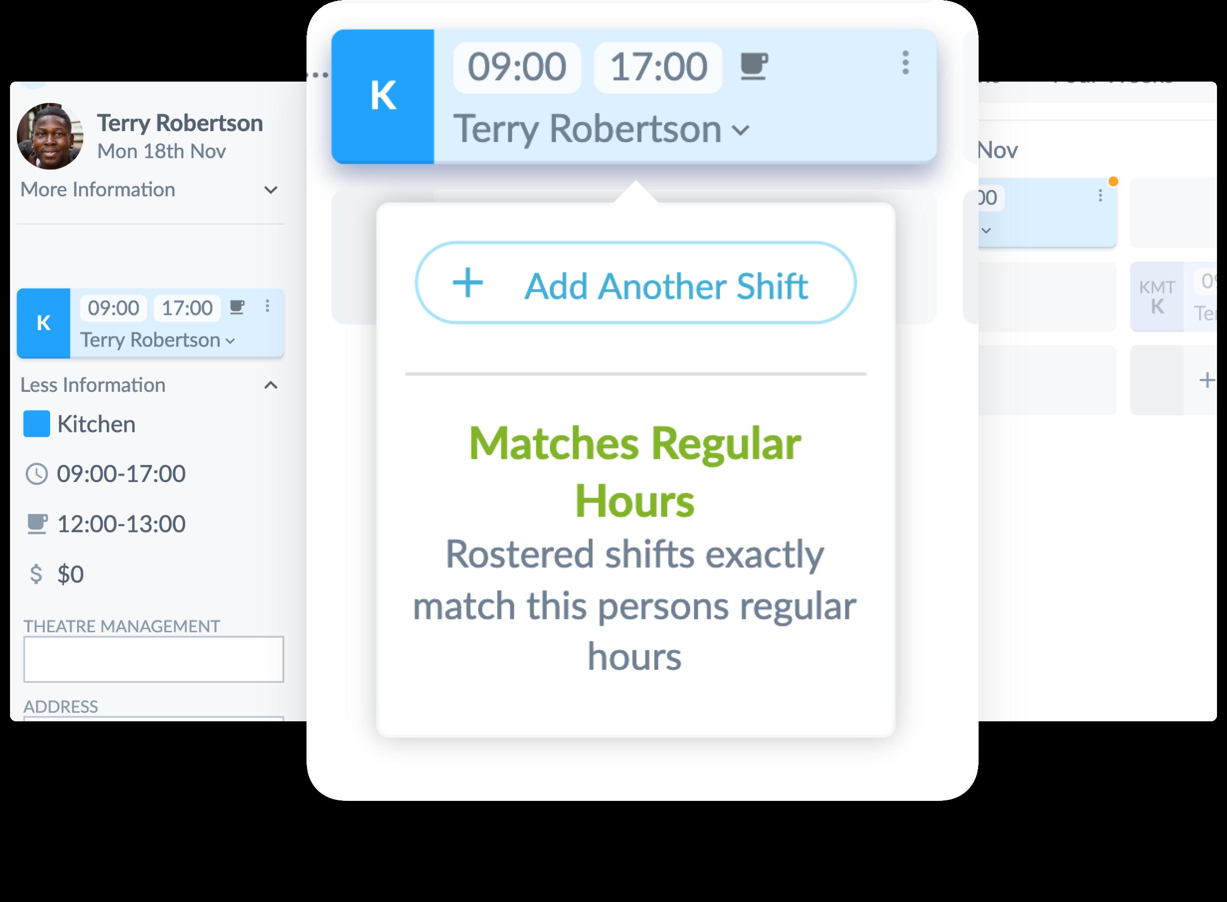 Matches regular hours