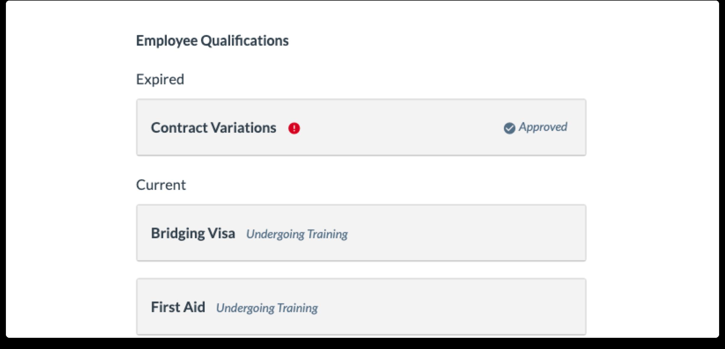 sort qualifications