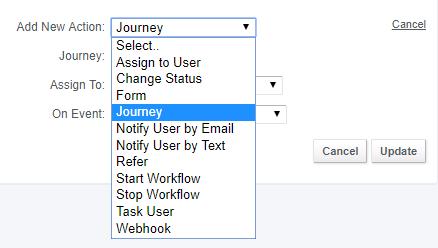 Journeys - workflow