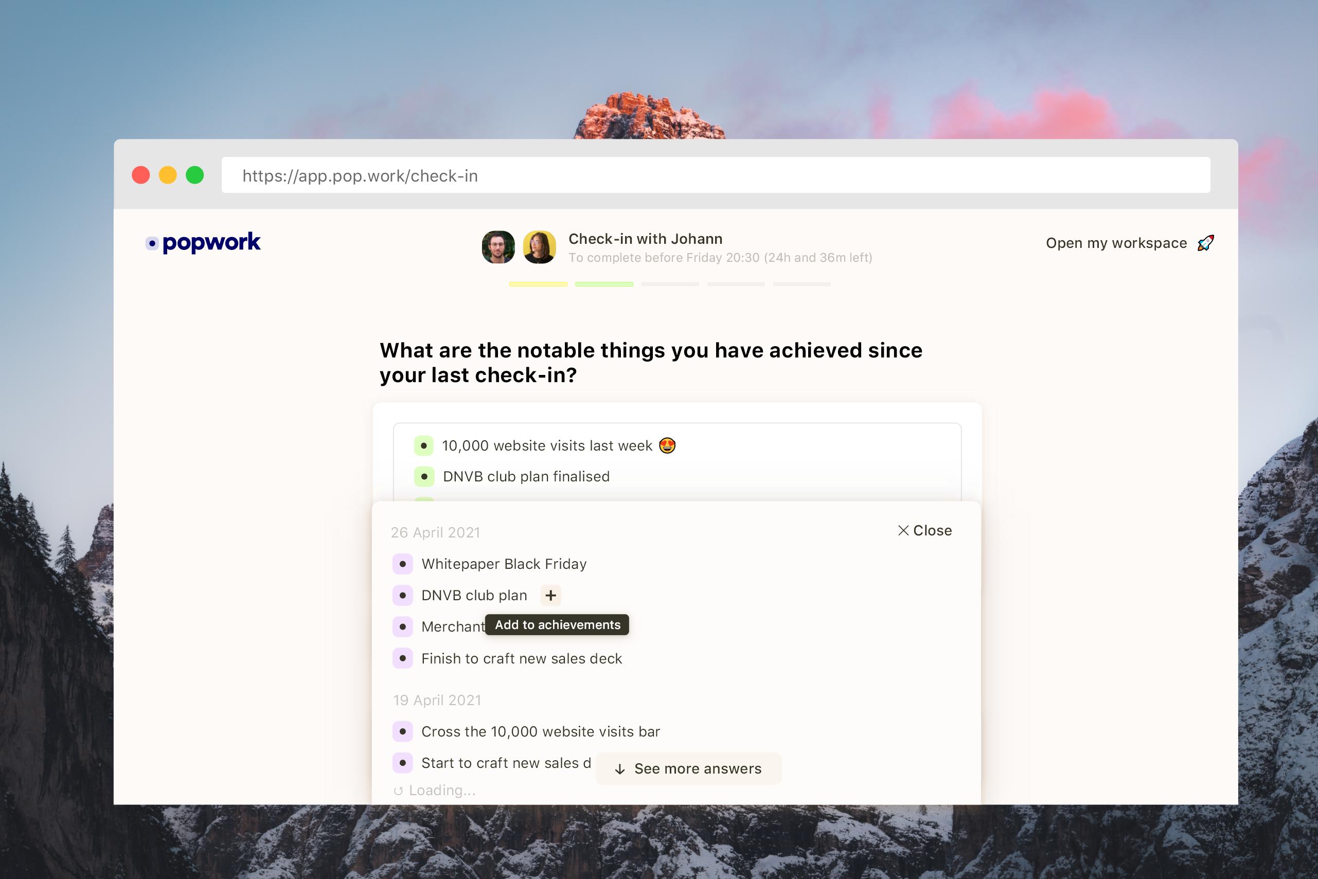 Thumbmail access historic answers