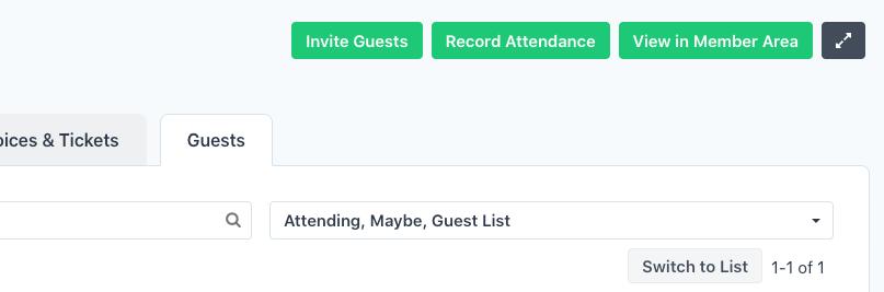 Record Attendance - Guest List