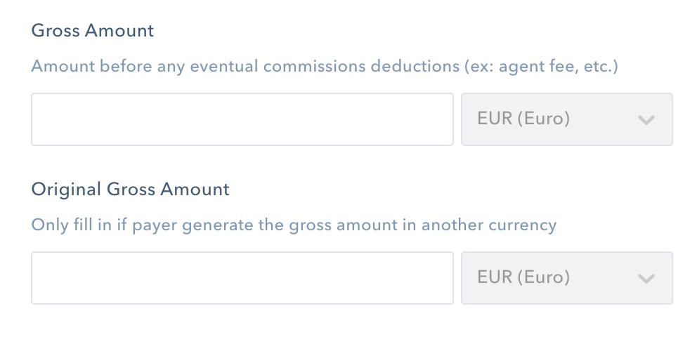 gross amount