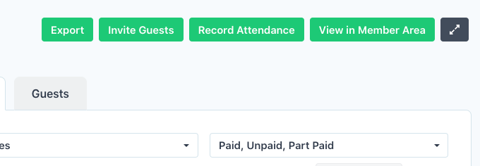 Record Attendance - Invoices