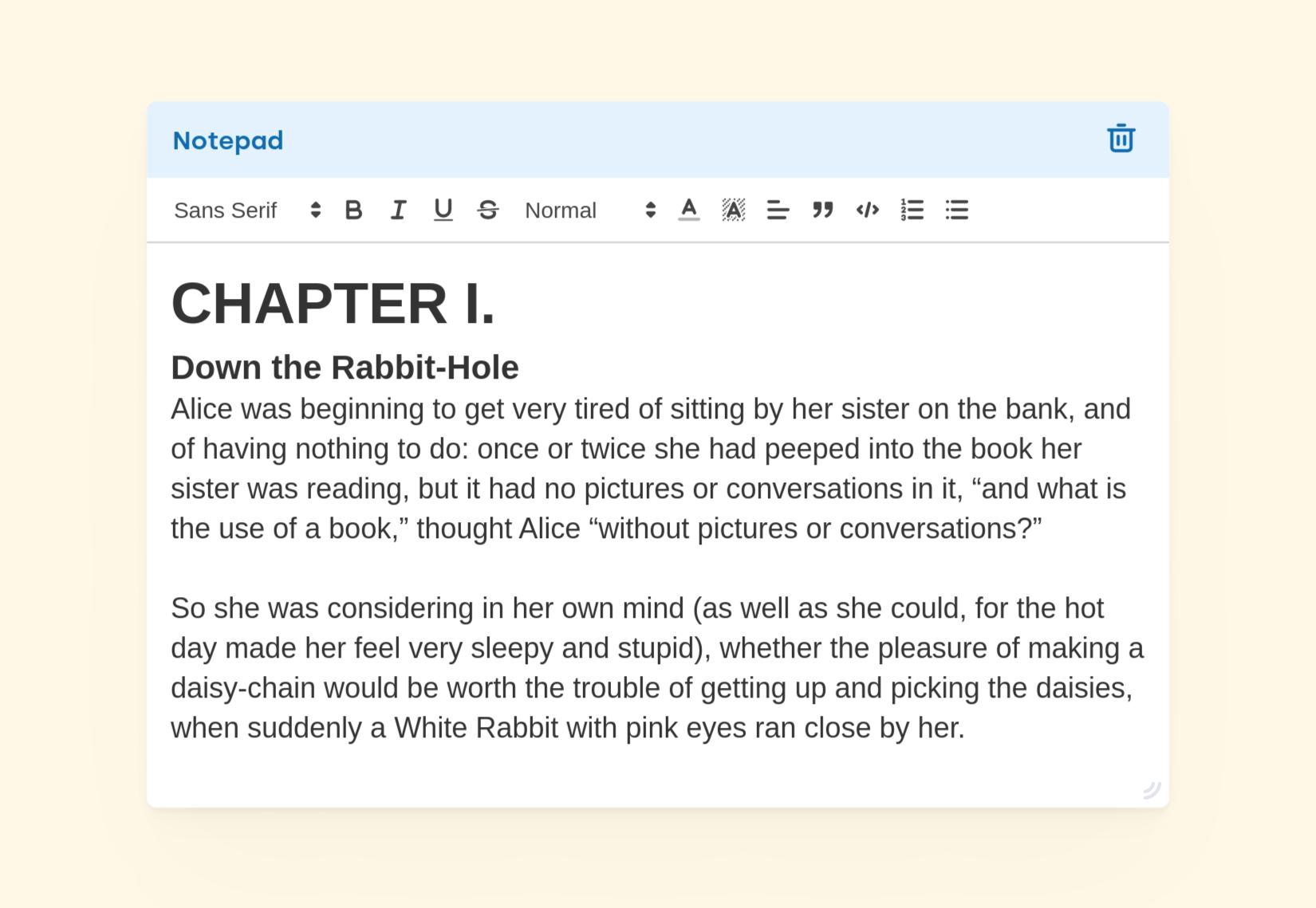 Introducing notepad