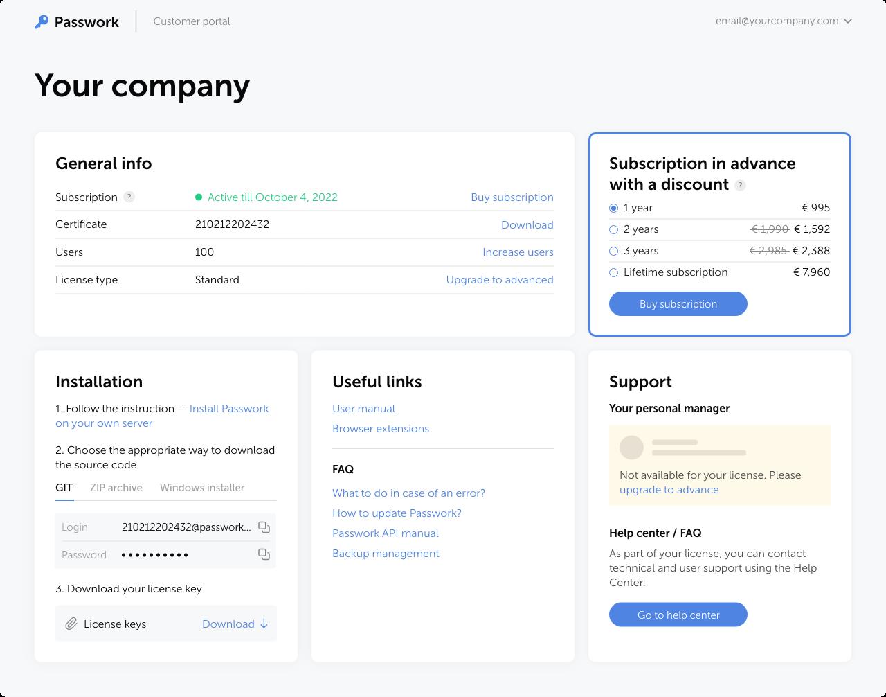 Customer portal EN